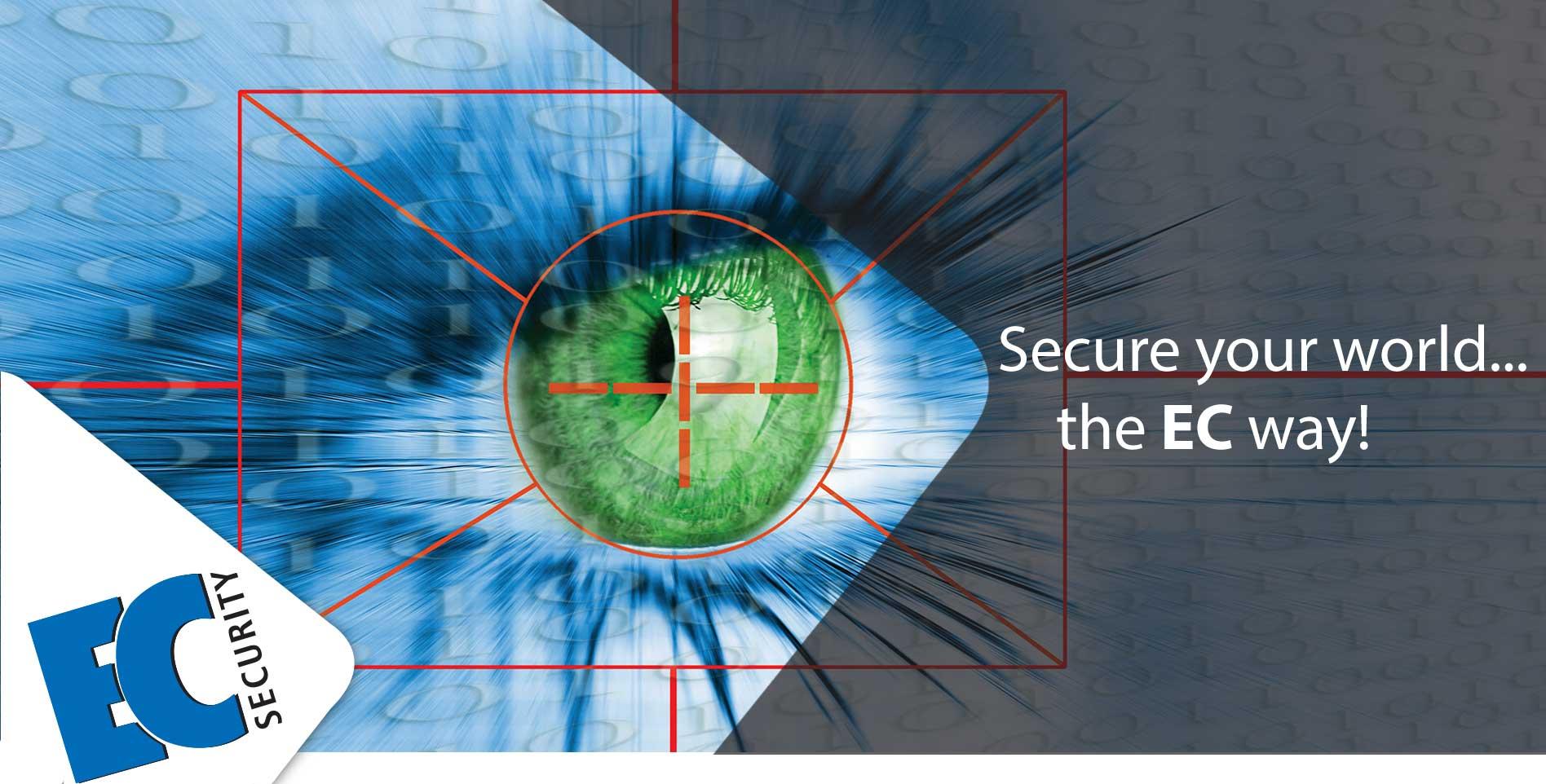 EC Security Web banner with slogan